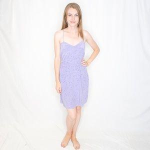 TIBI Purple Birds Print Silk Mini Dress 2 0517